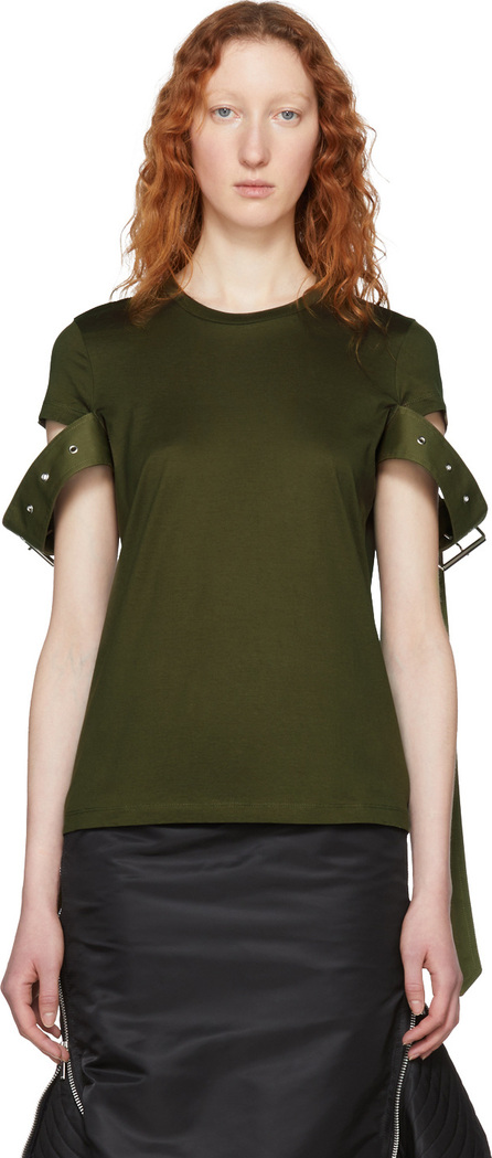 Marques'Almeida Green Belt Sleeve T-Shirt