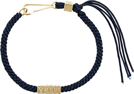 Abril Barret 'Navy' bead and cord bracelet