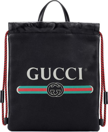 Gucci Gucci Print leather backpack