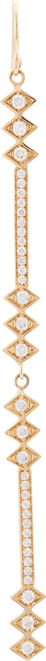 Azlee Light rod full diamond earrings