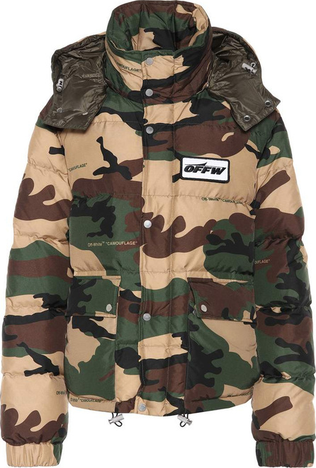 Off White Camouflage down jacket