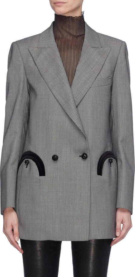 Blazé Milano 'Gone Away' double breasted honeycomb wool everyday blazer