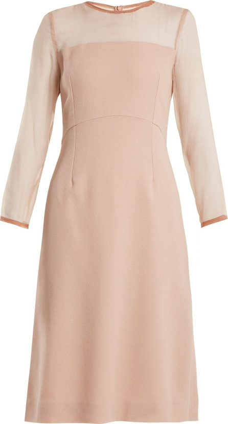 Goat Flavia silk-crepe pencil dress