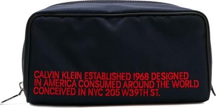 Calvin Klein 205W39NYC Logo embroidered toilet case