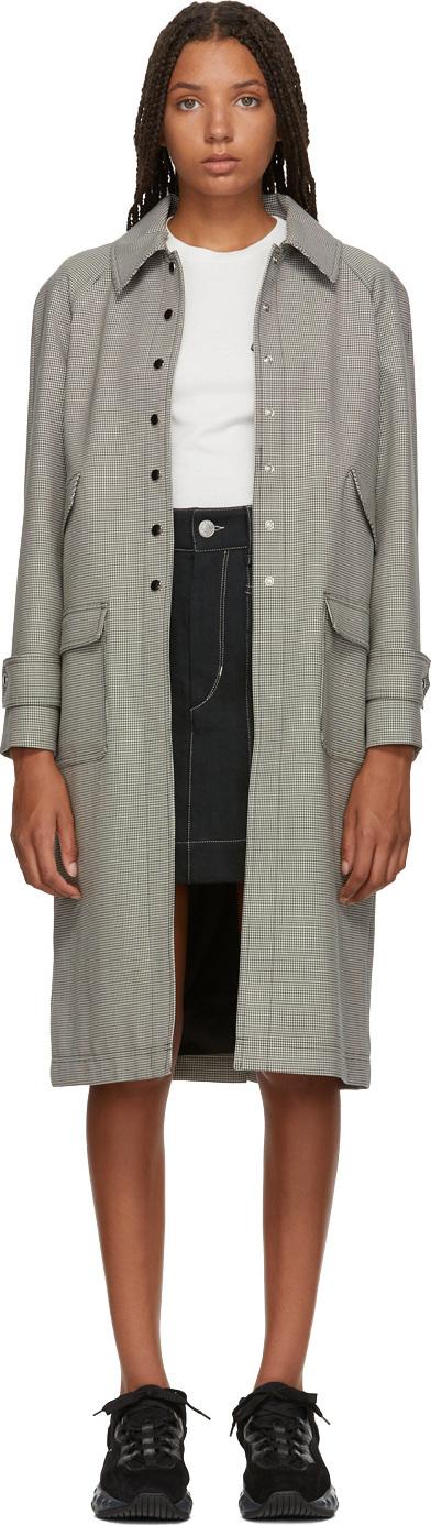 Alexachung Black & White Micro Houndstooth Coat
