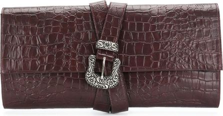 MM6 Maison Margiela crocodile effect clutch