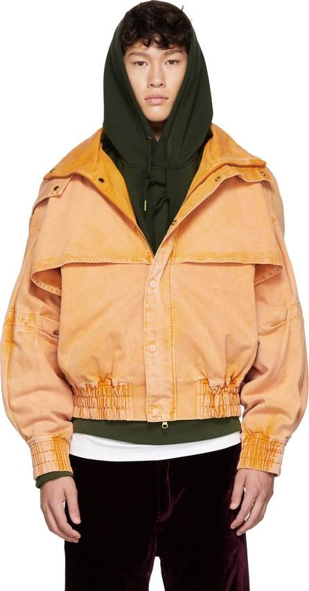 Feng Chen Wang Orange Oversized Hooded Jacket