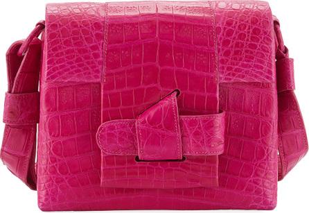Nancy Gonzalez Small Origami Knot Crocodile Crossbody Bag