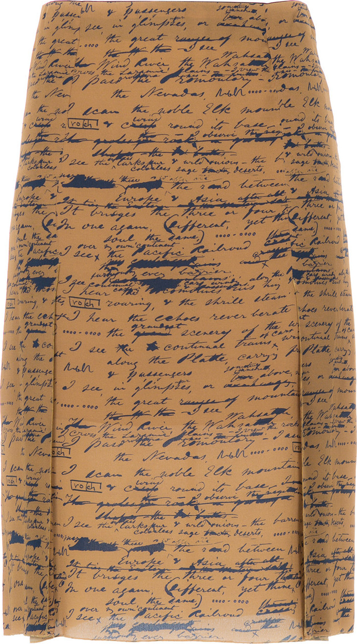 Rokh - Handwritting print straight skirt