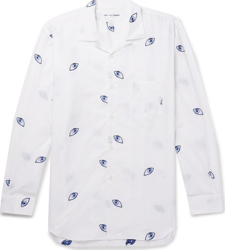 Comme Des Garcons Camp-Collar Printed Cotton-Poplin Shirt