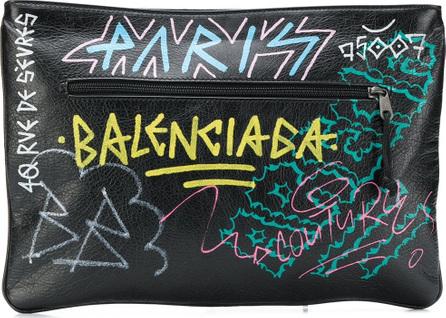Balenciaga Explorer graffiti pouch