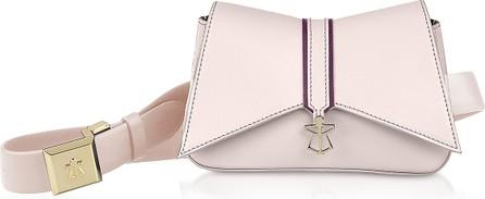 Lara Bellini Pink Leather Kiki Micro Belt Bag