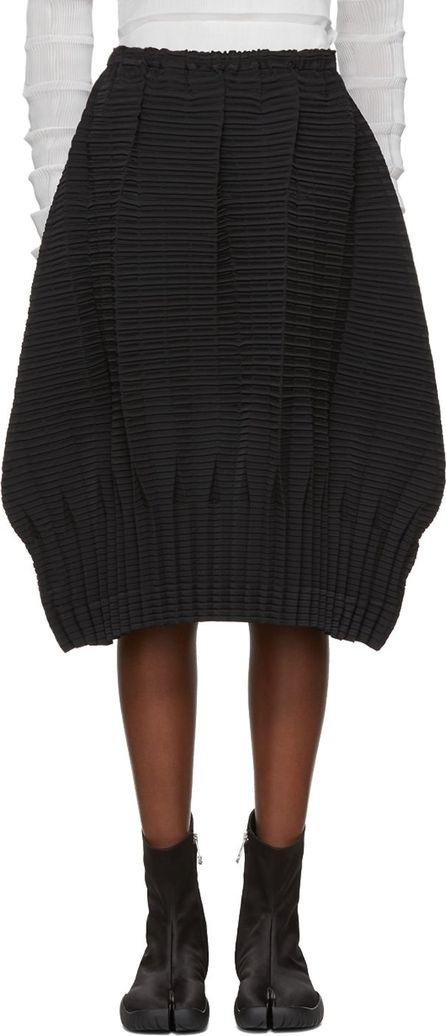 Issey Miyake Black Plate Pleats Solid Skirt