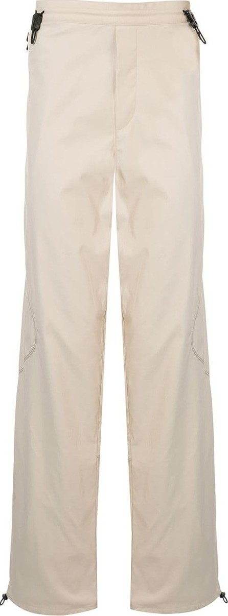 Affix Contrast stitching wide-leg trousers