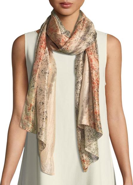 Eileen Fisher Sprinkle-Dyed Silk Scarf