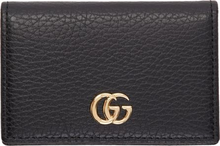 Gucci Black Petite GG Marmont Bifold Card Holder