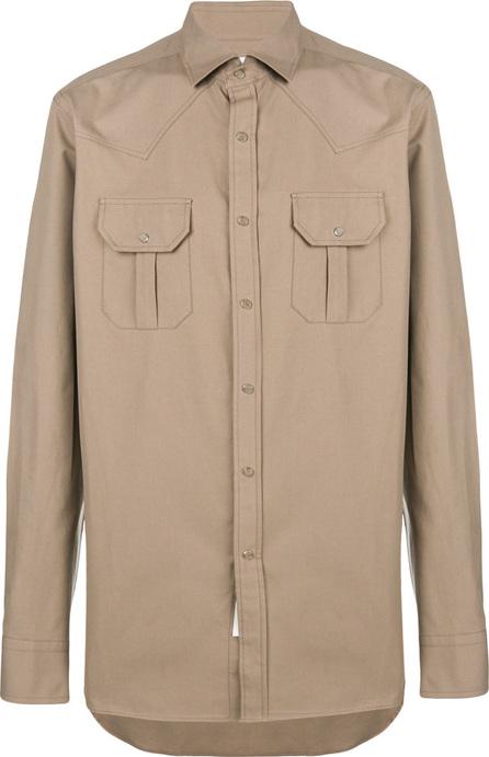 Bagutta Boxy chest pocket shirt