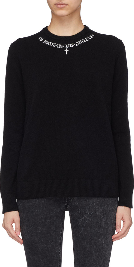 Adaptation Slogan intarsia cashmere sweater