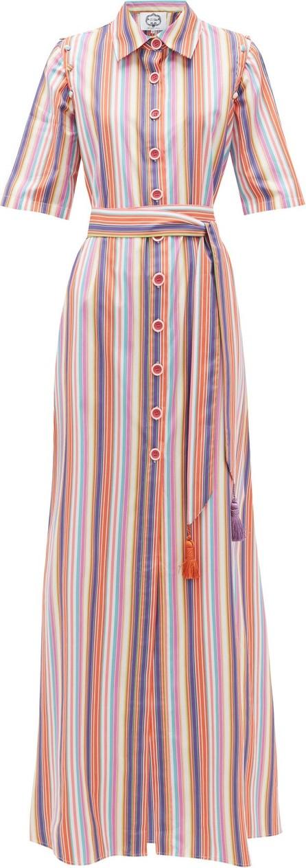 Evi Grintela Katoubia striped cotton-poplin maxi shirtdress