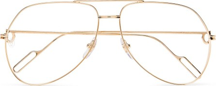 Cartier Aviator-Style Gold-Tone Optical Glasses