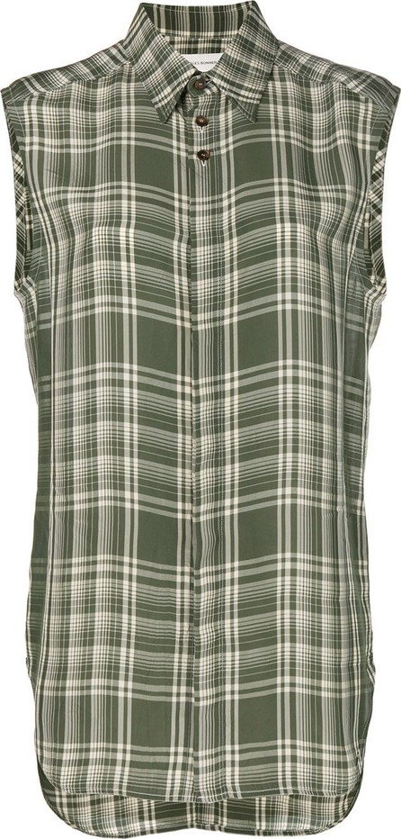 Wales Bonner plaid sleeveless shirt