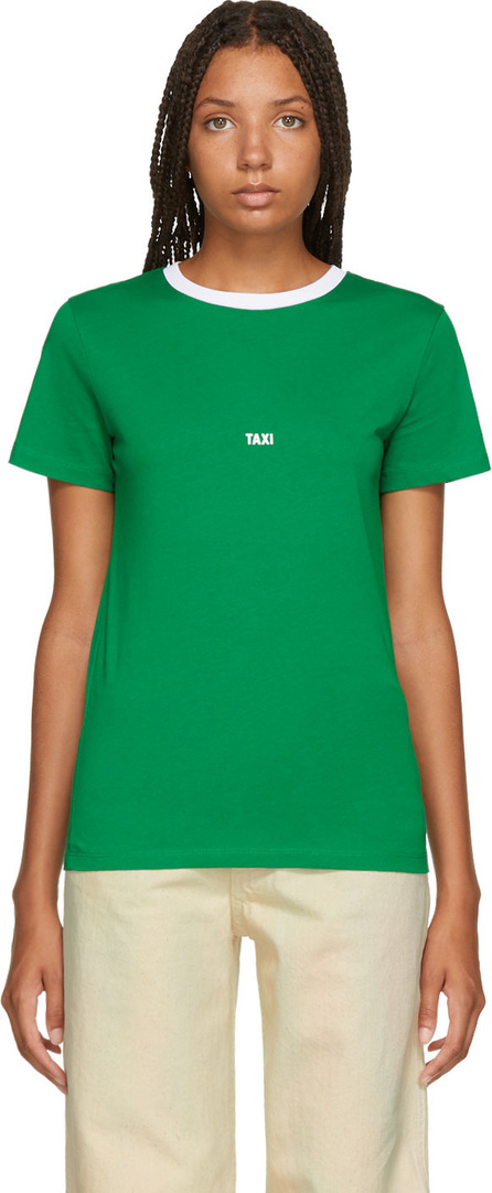 Helmut Lang Green & White Tokyo Edition Taxi T-Shirt
