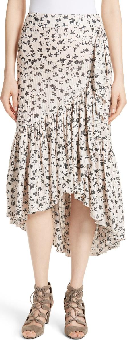 Ulla Johnson Gretchen Floral Cotton & Silk Skirt