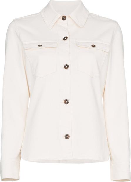 FRAME DENIM Button down long sleeve cotton blend shirt
