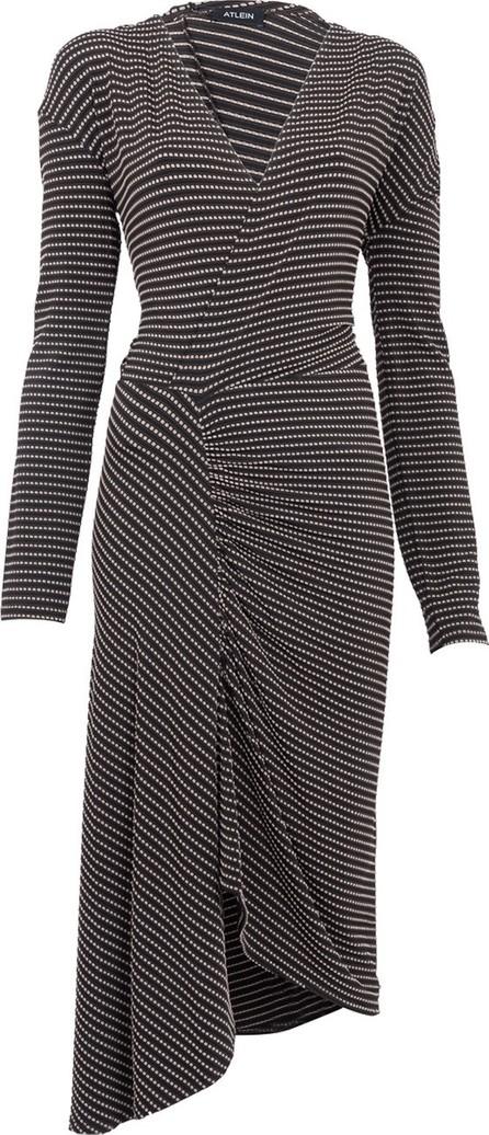 Atlein Stretch Jacquard Midi Dress