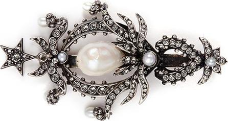Alexander McQueen Swarovski crystal pearl drop hair clip