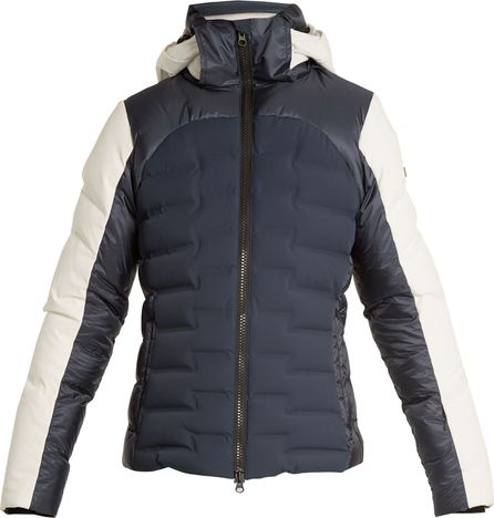 Capranea Basin hooded quilted-down ski jacket