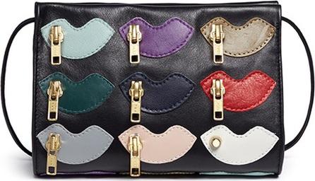 A-Esque 'Zip De Lip' leather crossbody bag