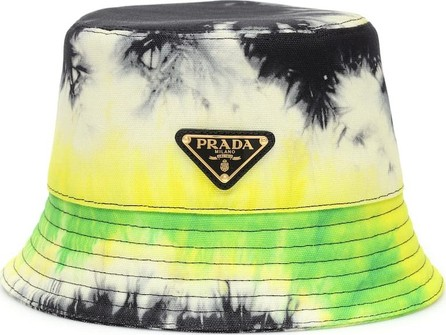 Prada Tie-dye cotton twill bucket hat