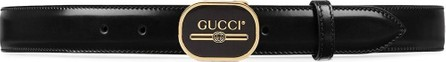 Gucci Leather belt with Gucci Print buckle