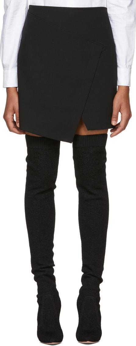 Tibi Black Flap Front Mini Skirt
