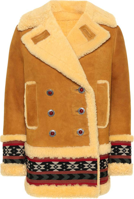 Etro Shearling-lined suede coat