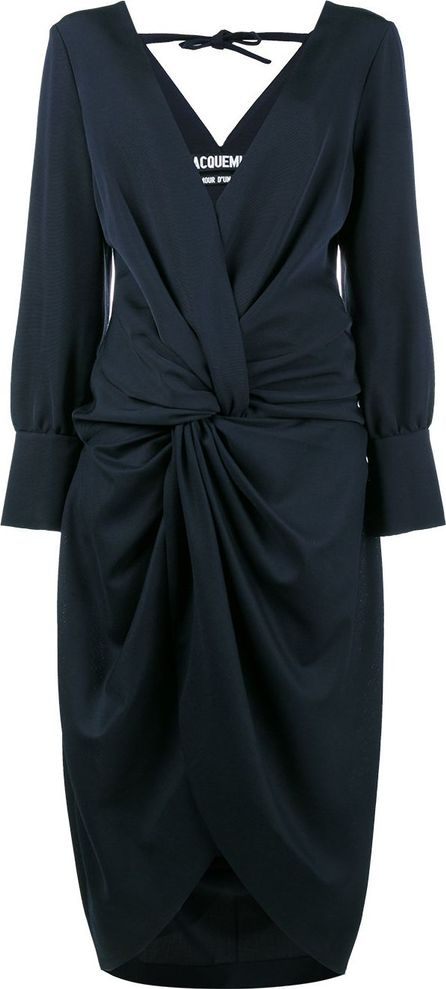 Jacquemus La Robe Fleur V-neck dress