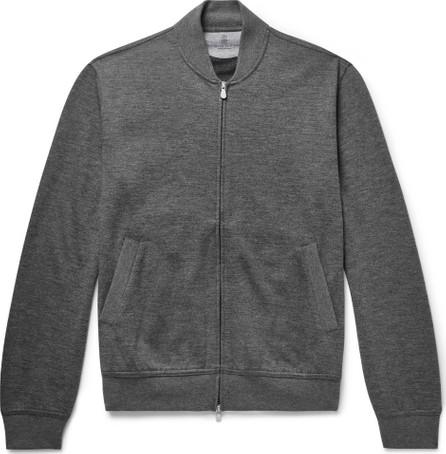 Brunello Cucinelli Mélange Cashmere-Blend Bomber Jacket