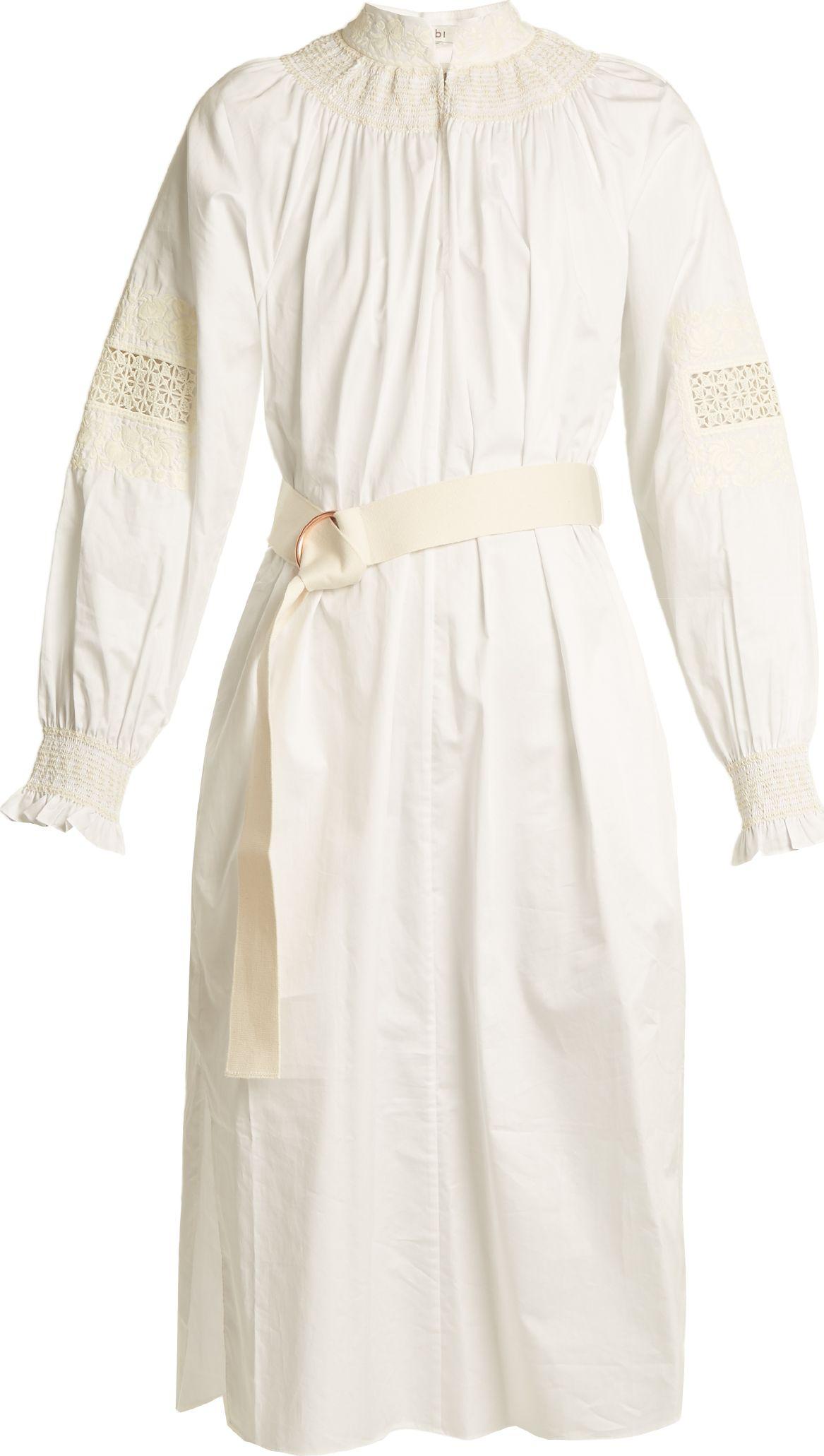Tibi - Cora embroidered cotton dress