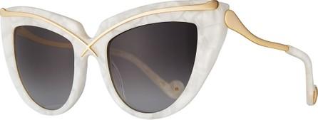 Anna Karin Karlsson Lusciousness Cat-Eye Sunglasses, Pearl