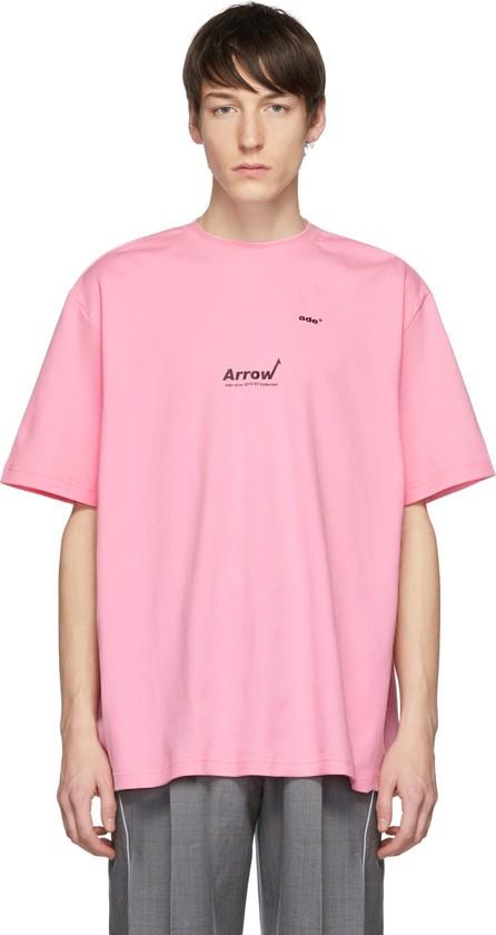 ADER error Pink 'Arrow' Aewing T-Shirt