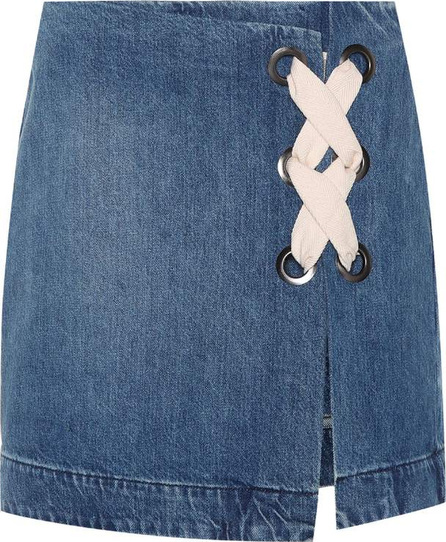 3X1 WS Hollow denim miniskirt