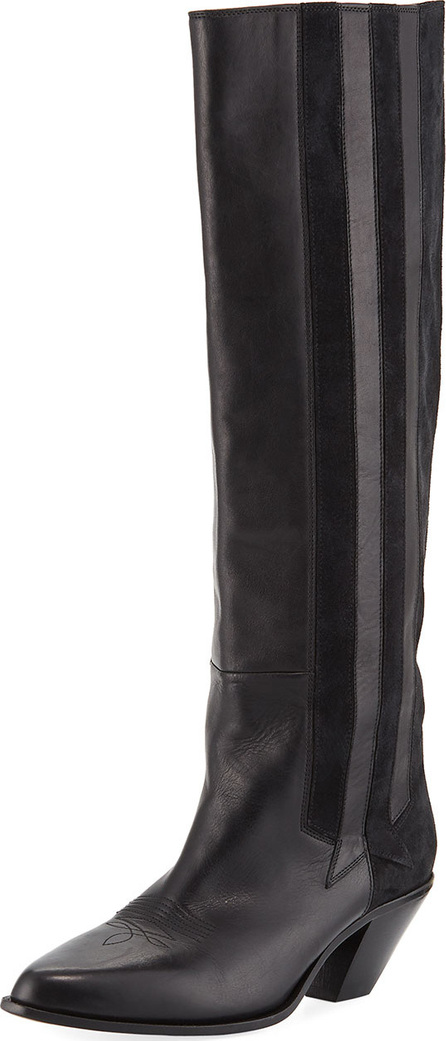 Golden Goose Deluxe Brand Nebbia Leather/Suede Cowboy Knee Boot