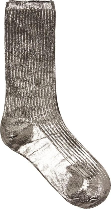Acne Studios Metallic painted cotton socks