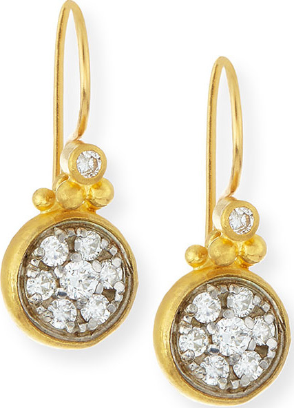 GURHAN Celestial 24k Gold Diamond Drop Earrings