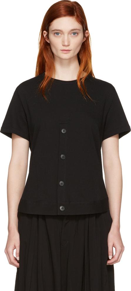 Nocturne #22 Black Henley Hem T-Shirt