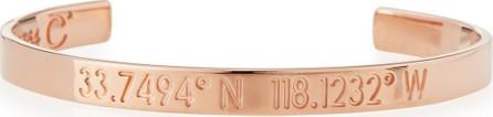 Coordinates Collection Legend Engraved Bangle Bracelet