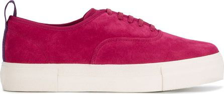 Eytys Mother magenta suede sneakers