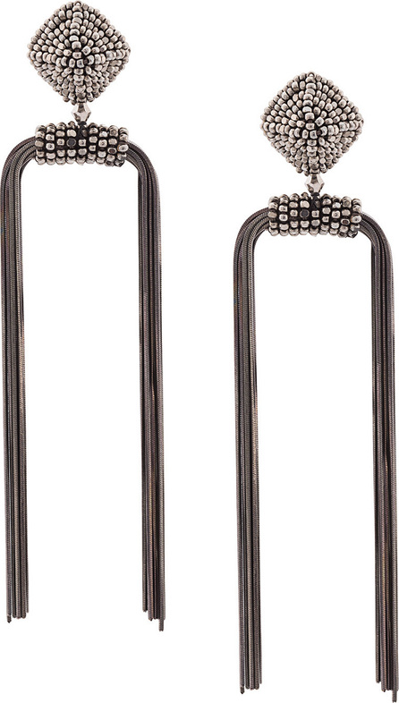 Sachin & Babi Metal dupio gunmetal earrings