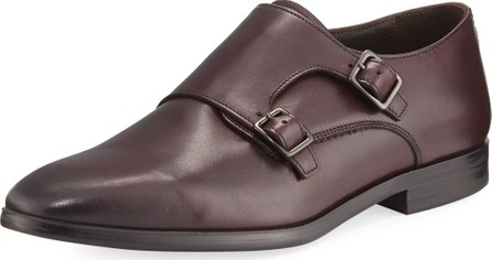 A. Testoni Leather Double-Monk Shoe